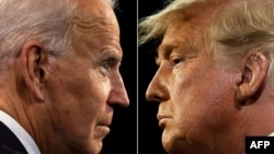 Donald Trump and Joe Biden combo