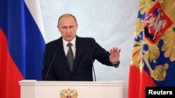 俄羅斯總統普京星期四發表年度國情咨文
