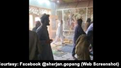 حملے کی سوشل میڈیا ویڈیو سے ایک تصویر