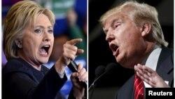 힐러리 클린턴(왼쪽) 미국 민주당 대통령 후보와 도널드 트럼프 공화당 후보.