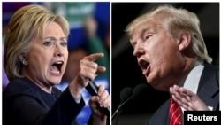 Hillary Clinton y Donald Trump se enfrentan en el primero de tres debates presidenciales el lunes, 26 de septiembre de 2016.