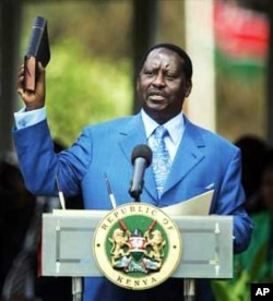 Kenya's Prime Minister Raila Odinga, who last year called for men and women having gay sex in the country to be arrested
