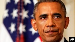 آقای اوباما بر عدم اعزام سربازان امریکایی به عراق تاکید کرد.