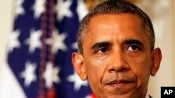 Rais Barack Obama akizungumza hali huko Iraq Augosti 7, 2014.
