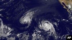 Les tempêtes Iselle et Julio dans le Pacifique (AP)