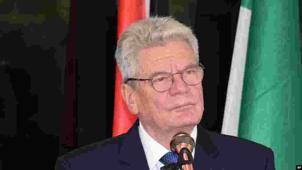 Le président allemand, Joachim Gauck, Abuja, Nigeria, 11 février 2016 .