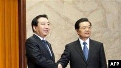 Йошихико Нода и Ху Цзиньтао. Пекин. 26 декабря 2011 г.