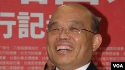 民進黨主席蘇貞昌 (美國之音申華拍攝)