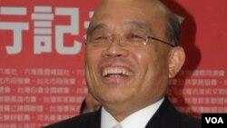 民进党主席苏贞昌 (美国之音申华拍摄)