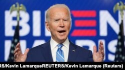 USA, Delaver, U.S. Democratic presidential nominee and former Vice President Joe Biden