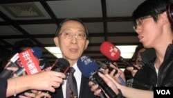 台灣外交部長林永樂回答記者問題(申華拍攝)