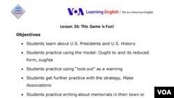 Lesson 26 Lesson Plan