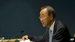 The United Nations Secretary General Ban Ki-moon (file photo)