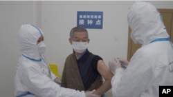 Çin'de Corona virüsü aşı testlerinin yürtüldüğü laboratuvardan bir kare