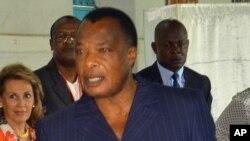 Le président Denis Sassou N'Guesso du Congo, 20 mars 2016.