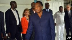 Le président Denis Sassou Nguesso à Brazzaville, 20 mars 2016.