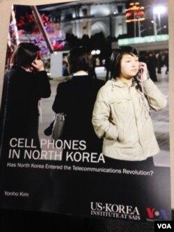 金连镐撰写的报告(美国之音莉雅拍摄)