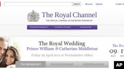 The Royal Channel on YouTube will air April 29th wedding events in London, live.