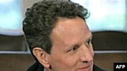 """Bộ trưởng Geithner nói rằng nền kinh tế Hoa Kỳ đang ở """"một vị thế mạnh hơn nhiều"""" so với lúc kế hoạch cứu nguy được chấp thuận"""