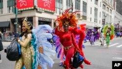Фото: Учасники параду Macy's на День подяки під час попереднього запису події, 25 листопада 2020 року