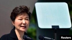 Presiden Korea Selatan Park Geun-hye dalam sebuah pidato. (Foto: Dok)