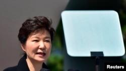 Tổng Thống Nam Triều Tiên Park Geun Hye.