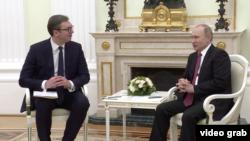 Predsednik Srbije Aleksandar Vučić na sastanku sa predsednikom Rusije Vladimirom Putinom