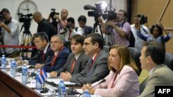 Phái đoàn Mỹ tại cuộc hội đàm với các giới chức Cuba ở Havana, ngày 21/1/2015.