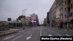 Centar Beograda za vrijeme policijskog časa