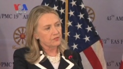 Clinton in Cambodia to Boost Investment, Discuss Outstanding Debt (Cambodia news in Khmer)