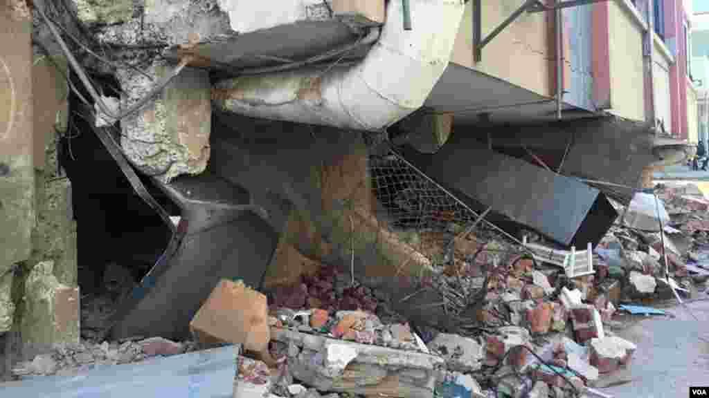 El sismo 7,8 del 16 de abril dejó grandes destrozos en Manta, en la costa ecuatoriana.