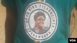 The T-shirt were obtained at a rally recently addressed by the first lady. (Photo: Arthur Chigoriwa)