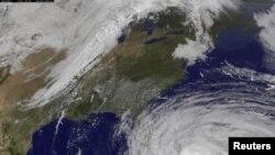 تصویر ناسا از حرکت توفان سندی