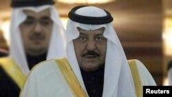 ອົງມົງກຸດລາຊະກຸມານ Nayef bin Abdul-Aziz al-Saud ແຫ່ງ Saudi Arabia.ວັນທີ 17 ມິຖຸນາ 2012.
