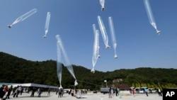 Sekelompok aktivis yang berbasis di Seoul, sebagian besar terdiri dari para pembelot dari Korea Utara, mengirim selebaran anti-Pyongyang ke Korea Utara hari Jumat (10/10), bertepatan dengan peringatan hari ulang tahun ke-69 berdirinya Partai Buruh yang berkuasa di negara itu.