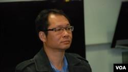 民主黨副主席蔡耀昌表示,政改的爭持點在於篩選與反篩選 (美國之音 湯惠芸)