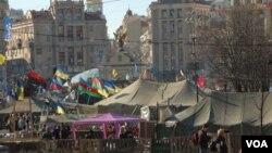 Quảng trường Độc lập Maidan trong thủ đô Kyiv