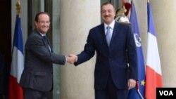 Azərbaycan prezidenti İlham Əliyev və Fransa prezidenti Fransua Olland