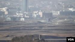 開城工業園區位於南北韓非軍事區以北10公里處。