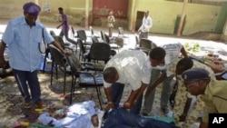 Serangan bom di Mogadishu hari Rabu menewaskan pejabat tertinggi sepak bola dan Olimpiade Somalia, Said Mohamed Nur (4/4).