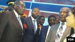 Presidents Mugabe and Gnassingbe.