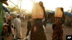 Refugees from South Kordofan, Sudan, in the Yida refugee camp in Unity state, South Sudan, May 2012.