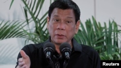 로드리고 두테르테 필리핀 대통령. (자료사진)