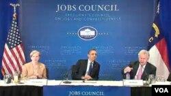 Durante el encuentro en Carolina del Norte, el presidente Obama se refirió a los TLC que EE.UU. negocia con Corea del Sur, Colombia y Panamá.