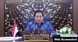 Menko Perekonomian Airlangga Hartarto usai Ratas Virtual dengan Presiden Jokowi di Jakarta, Senin (21/6) menegaskan penguatan PPKM Mikro dalam menekan laju kasus COVID-19 (screenshoot).jpegMenko Perekonomian Airlangga Hartarto usai Ratas Virtual dengan Pr