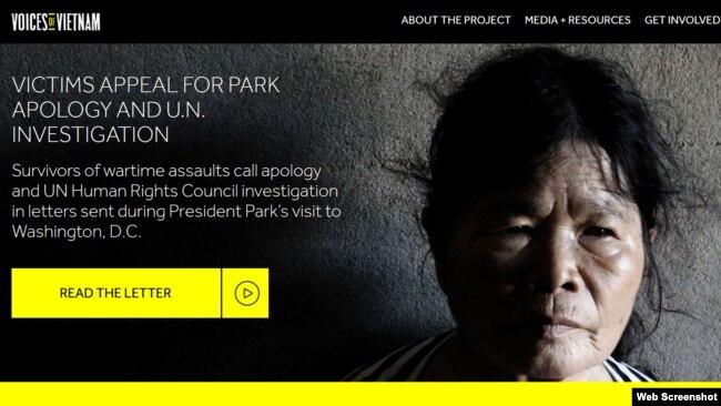 Bà Trần Thị Ngải, một trong các nạn nhân bị binh sĩ Hàn Quốc hãm hiếp trong Chiến tranh Việt Nam