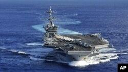 美國航母卡爾·文森號在太平洋(資料圖片)