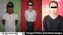 ဟာသ သ႐ုပ္ေဆာင္ ေအာင္ရဲေထြးေသဆုံးမႈ သံသယရွိသူမ်ား (ဓါတ္ပုံ Yangon Police)