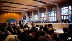 Suasana pembicaraan perdamaian Suriah di Montreux, Swiss, Rabu (22/1). (AP/Anja Niedringhaus)