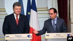 Петр Порошенко и Франсуа Олланд. Париж. 21 июня 2016 г.